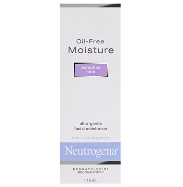 Neutrogena Crema hidratante diaria sin aceite para pieles sensibles, humectantes ultra suaves y ligeros sin fragancias ni colorantes